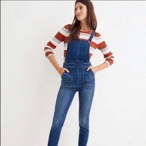 Madewell // NWT Skinny Overalls In Santiago Wash